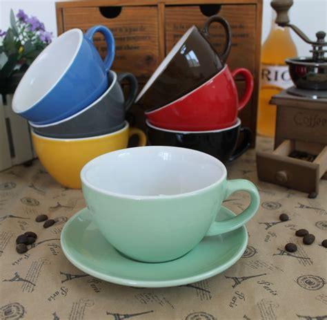 10 Oz Thick Ceramic Coffee Mugs - free shipping 10 oz colorful barista competition ceramic