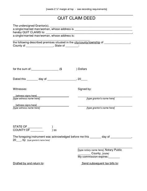 printable quit claim deed form printable quit claim deed form indiana