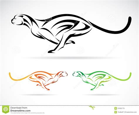tribal cheetah tattoos vector image of an tiger cheetah stock vector