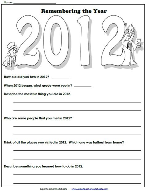 new year school worksheets 8 best images about teaching worksheets on