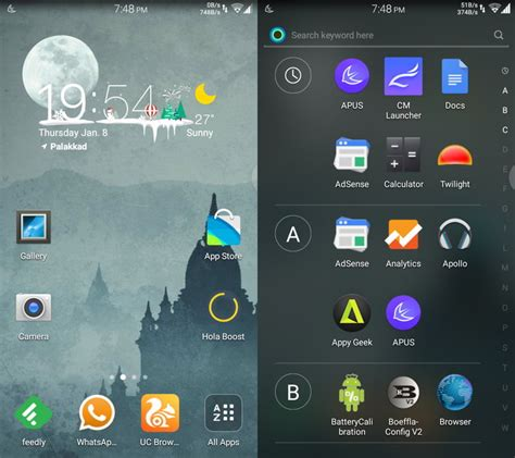 launchers for android free hola launcher menu android