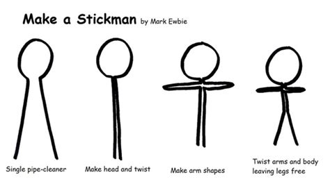How To Make A 3d Figure Out Of Paper - how to make a pipe cleaner stick figure the stick