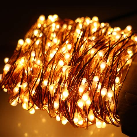 Aliexpress Com Buy 6 Colors 50m 165ft 500 Leds Copper Warm White String Lights