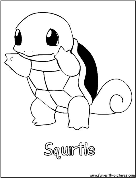 pokemon squirtle coloring pages images pokemon images