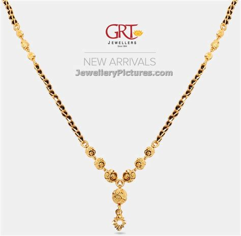 black bead chains in gold black gold chain designs grt jewellery designs 1