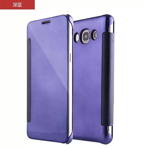 Samsung J2 Prime Smart Flip Slim View Electroplating Mirror T19 1 popular clear view cover galaxy j5 buy cheap clear view