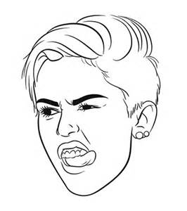 miley cyrus tongue coloring pages