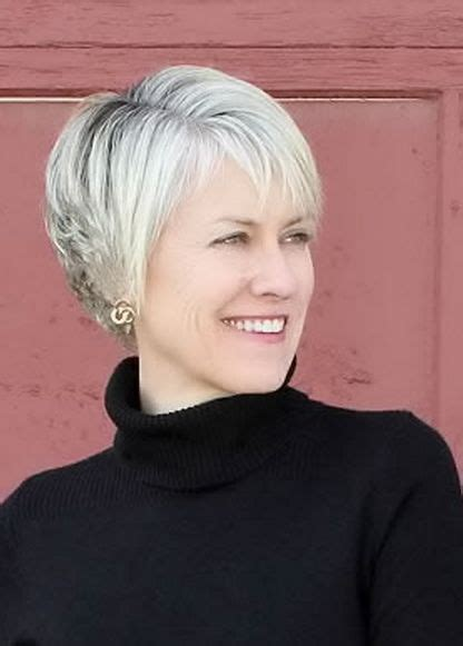 women over 50 deep side bangs short hairstyles women over 50 side bangs and blonde color
