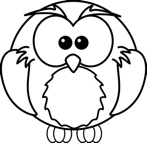 free printable coloring pages cartoons free cartoon owl coloring page clipart