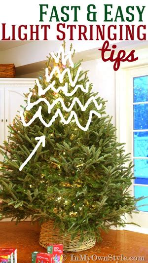 how to string lights on a christmas tree my style tree lighting tips in my own style