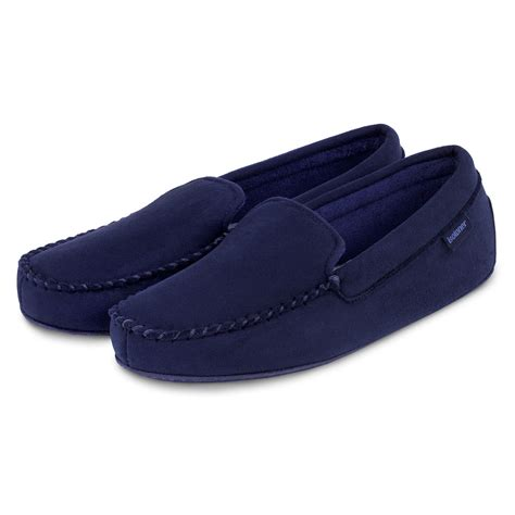 mens isotoner slippers isotoner mens pillowstep driving moccasin slippers ebay