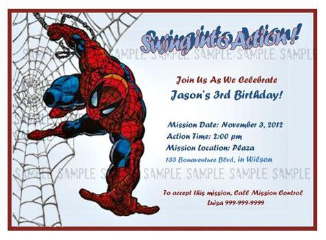 printable birthday cards spiderman spiderman custom digital you print birthday invitation
