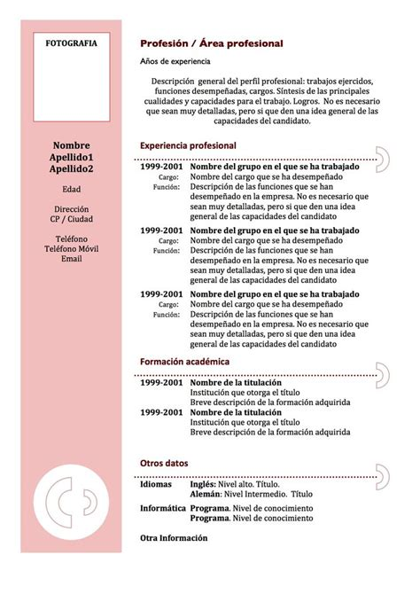 Modelo Curriculum Español Word 17 Best Images About Curriculums On Infographic Resume Creative Resume And Cv Design