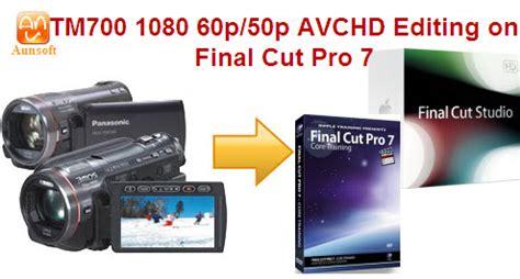 final cut pro video rendering error 50 import play edit panasonic hdc tm700 1080p mts to final