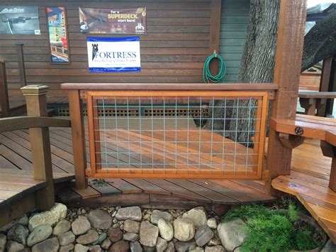 Hog Panel Deck Railing by Cattle Wire Porch Railing