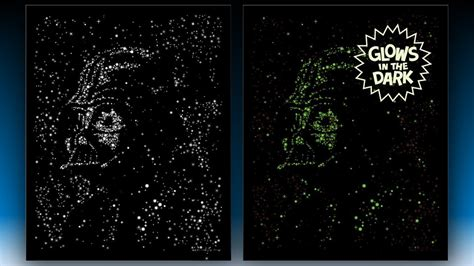 glow in the dark posters glow in the dark darth vader poster mightymega