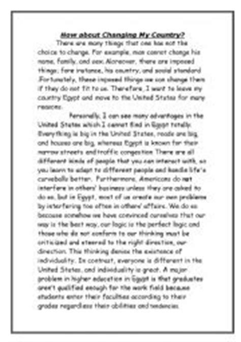 My Country Essay by Worksheets Essay About How About Changing My Country