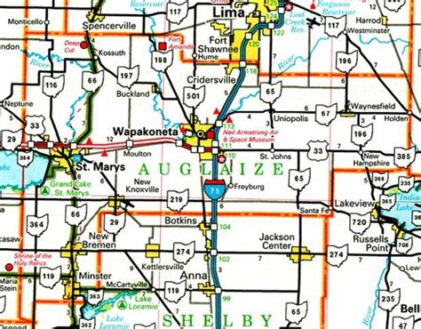 Auglaize County Records Auglaize County Ohio Map Ohiobiz