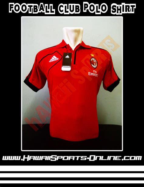 Topi Bola Ac Milan By Digisablon toko olahraga hawaii sports adidas ac milan polo shirt