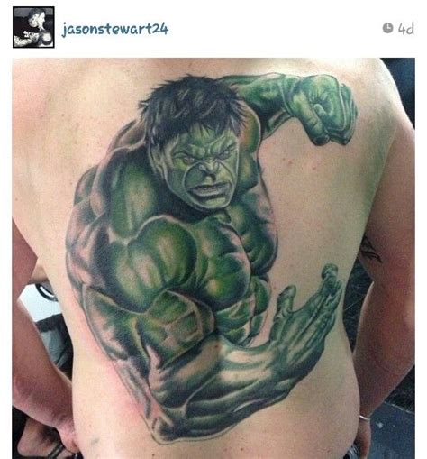 hulk tattoos smash artistic behavior