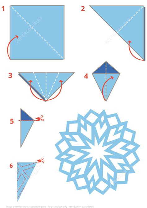 printable directions for making paper snowflakes origami snowflake instructions free printable papercraft