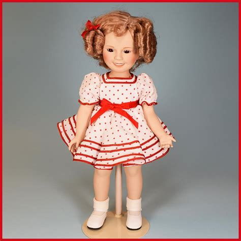 bisque shirley temple doll 14 quot porcelain shirley temple doll danbury mint stand up