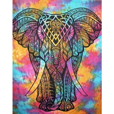 colorful tapestry colorful elephant tapestry wall hanging at rs 350