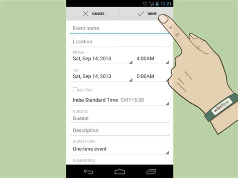 how to make a calendar event on how to make a calendar event for android 5 steps with