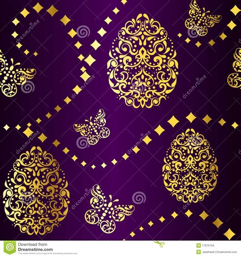 home design gold free seamless easter background in purple and gold stock images