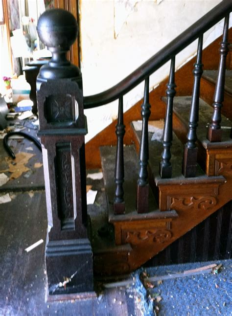 antique newel post l complete antique staircase with walnut handrail large