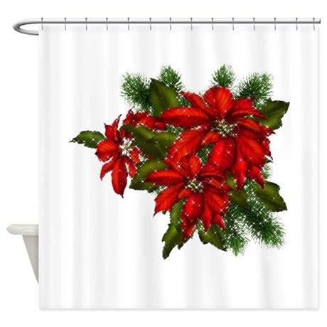 poinsettia shower curtain sparkling poinsettias shower curtain by christmasmorning