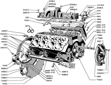 auto engine parts diagram ford engine exploded view