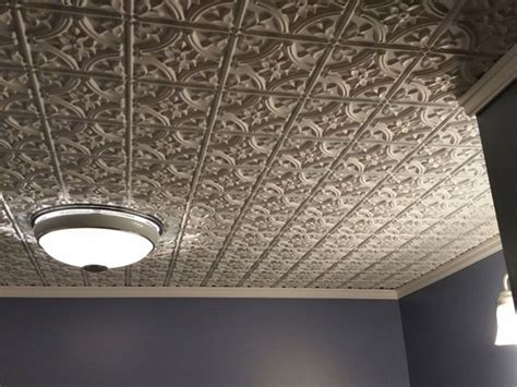 How To Make Faux Tin Ceiling Tiles by Reims Faux Tin Ceiling Tile Glue Up 24 X24