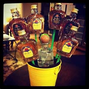 Forget flowers give your sweetheart a bouquet of mini alcohol