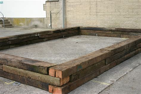 Building With Railway Sleepers by Building A Show Garden Common Farm Flowers The Flower