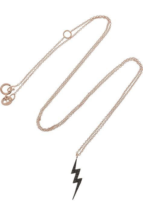 Diane Black Choker diane kordas lightning bolt 18karat gold necklace in gold lyst