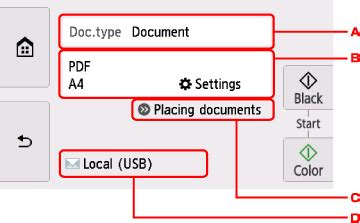 canon knowledge base scanning from the operation panel
