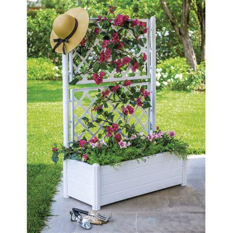 fioriere in plastica per esterno fioriera in plastica rettangolare con spalliera per
