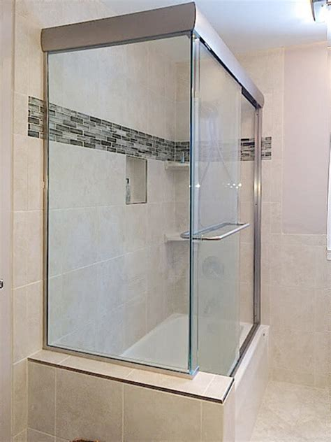 Bypass Shower Doors by Frameless Sliding Shower Doors And Enclosures