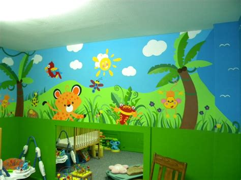daycare jungle mural complete wall 4 daycare