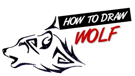 how to draw a wolf tattoo wolf tattoo step by step how to draw wolf head tribal tattoo design 14 youtube