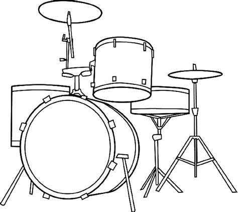 drum set coloring page music pinterest drum kit