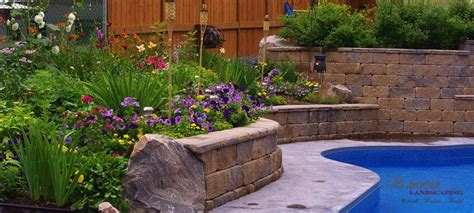 Retaining Wall Planter by Planters And Retaining Walls B Rocke Landscaping