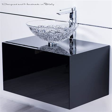 Italian Bathroom Fixtures Italian Vessel Sink With Polished Chrome Sink Faucet