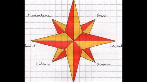 rose des vents draw with a compass 52 la rose des vents youtube