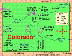 colorado state map cities colorado facts map and state symbols enchantedlearning