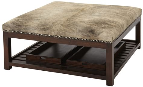 upholstered ottoman with tray upholstered ottoman with trays