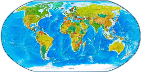 map of the world earth physical political world map 2007 geography earth big