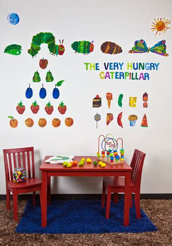 hungry caterpillar wall stickers eric carle s the hungry caterpillar peel place wall
