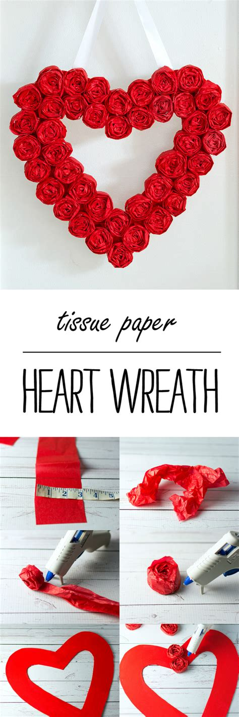 i valentines day ideas wreath craft idea for s day